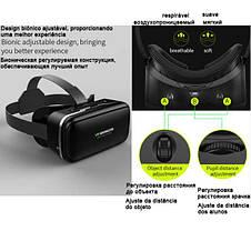 Очки Виртуальной Реальности VR Shinecon 3D Glasses с пультом, фото 3