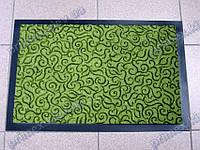 Коврик грязезащитный Узор, 40х60см., зеленый