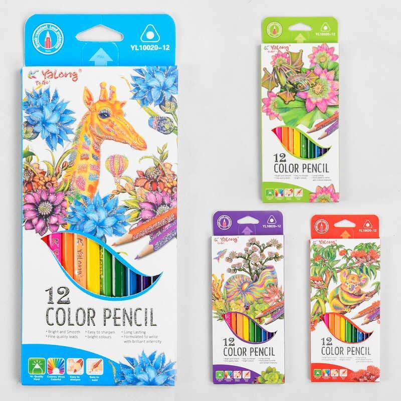 Олівець кольоровий C 45320 (240) 12 кольорів, 4 види