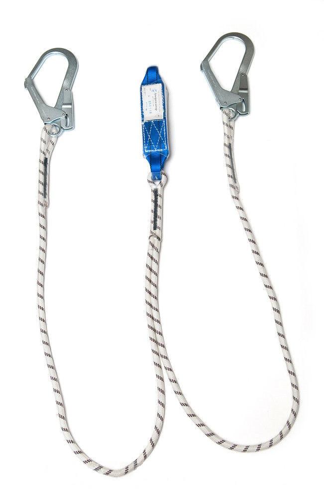 Двойной строп с амортизатором и двумя большими карабинами
