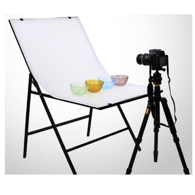 Стол для предметной съёмки Prolighting (Белый двусторонний складной 60х100 м.)