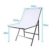 Стол для предметной съёмки Prolighting (Белый двусторонний складной 60х100 м.), фото 4