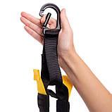 Петли TRX тренировочные подвесные многофункциональные PRO PACK P3 HOME Черный-желтый (СПО FI-3726-05), фото 6