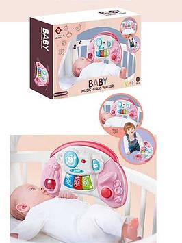 Іграшкове піаніно зі звуками тварин і світловими ефектами для дівчаток Іграшка для немовлят рожева