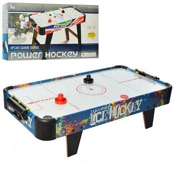 Настільний хокей для дітей і дорослих зі шкалою ведення рахунку Аэрохокей працює від батарейок