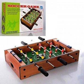 Настільна гра футбол Футбол дерев'яний на штангах Настільний футбол в коробці Дерев'яний футбол на штангах