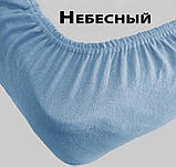 Махрове простирадло на гумці розмір спального місця 160*200 см Виноргадный колір Туреччина бренд KAYRA, фото 5