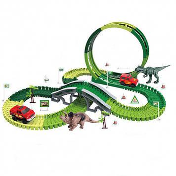Игровой гоночный трек для мальчика Автотрек с машинкой на батарейке Гоночный автотрек с машинкой Трек гоночный
