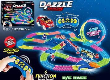 Автотрек с пультом управления Dazzle Tracks Игрушечный трек на пульте управления Автотрек для игр мальчику