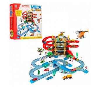 Детский игровой набор гараж  Мега парковка и гараж на 4 этажа Игрушечная парковка с вертолетом и машинками