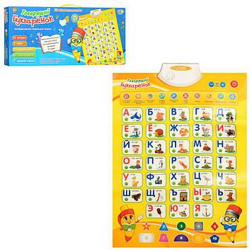 Развивающий плакат для детей Говорящий букваренок с сенсорными кнопками на русском языке Плакат обучающий