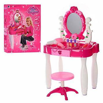 Ігровий набір Bambi Трюмо зі стільчиком і феном Дитяче трюмо з помадою і іншими аксесуарами Трюмо дівчинці