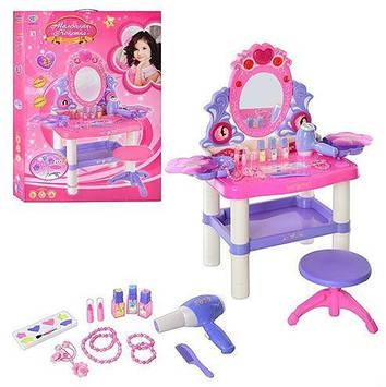 Дитяче трюмо зі стільчиком для дівчинки Трюмо з музичної підсвічуванням Іграшковий дитячий туалетний столик