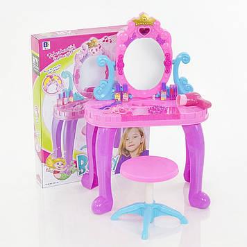 Дитяче ігрове функціональне трюмо з дзеркалом і аксесуарами Іграшкова трюмо з стільчиком Трюмо дитяче