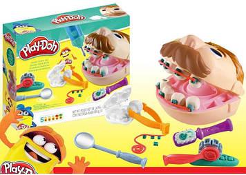 Игровой набор мистер зубастик в комплекте пластилин и инструменты стоматолога Игра мистер зубастик