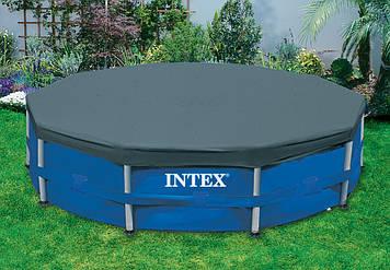 Тент для каркасного басейну діаметр 457см Каркасний тент-чохол для басейну Intex Чохол для круглого басейну