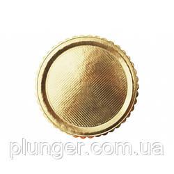 Поднос круглый золотой, толщина 3 мм, диаметр 34 см