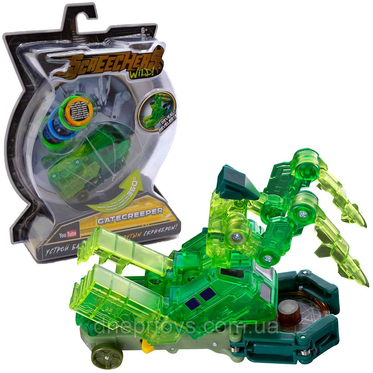 Машинка-трансформер игровой набор Screechers Wild Скричеры S2 L2 Гейткрипер (EU683123)