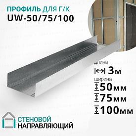 Профиль UW (УВ) 3 метра. Стеновой, направляющий. РАСПРОДАЖА!