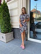 Легкое принтованное платье чуть ниже колен, с карманами по бокам, фото 2