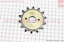 """Зірка передня CG/CB-520H-14T (шліц 4мм) """"гартована"""" Loncin - LX200GY-3"""