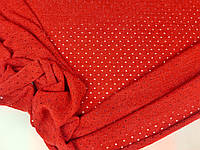 Красный. Ткань ангора,  с люрексом, фото 1