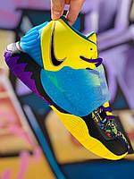 Баскетбольные кроссовки желто-голубые Кайри 6 (41-46)