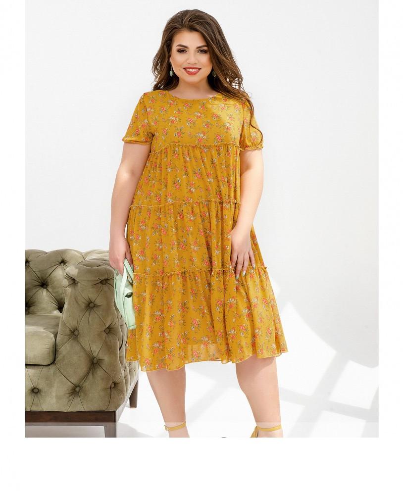 Легкое шифоновое платье с 50 по 64 размер
