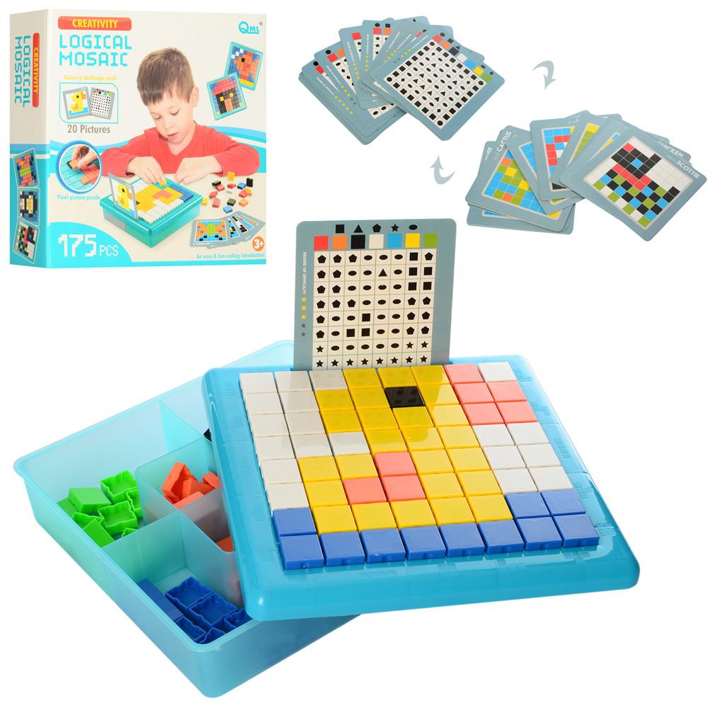 Мозаїка M7G (24шт) логічна, картки 20шт, 175дет, в кор-ке, 25,5-25-7см
