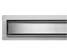 Трап для душу з нержавіючої сталі 2 в 1 під плитку 70x600 мм з сухим затвором (Польща)