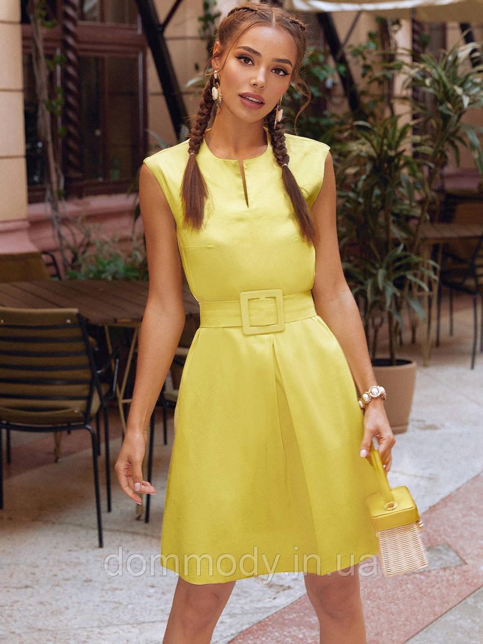 Жовта сукня жіноча із меморі-котону