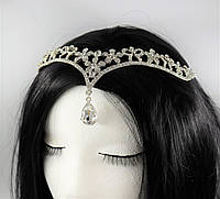 Діадема на голову Східне прикраса Кришталь (срібло) №76