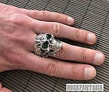 Серебряное мужское кольцо перстень Хищник, кольцо с черепом череп, фото 2