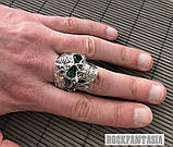 Срібне чоловіче кільце перстень Хижак, кільце з черепом череп, фото 2
