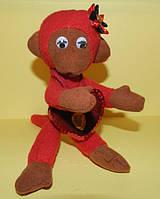Игрушка обезьянка с сердечком , необычный подарок ребенку на день рождение