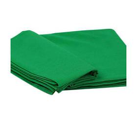 Студійний фон для фото, фотофон (тканинний Зелений хромакей 150 див.×300 див.)