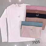 Жіночий лонгслив, х/б , р-р універсальний 42-46 (чорний), фото 2