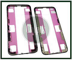 Подложка, пластиковая рамка для переклейки стекла для Apple iPhone XS, iPhone 10S, черная