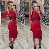 Платье + портупея 4цвета красное