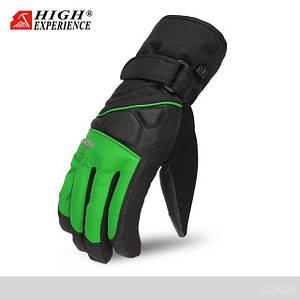 Мужские горнолыжные перчатки High Experience салатовые
