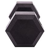 Гантель цельная шестигранная Zelart  (1шт) 5 кг, фото 3