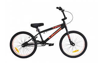 """Трюковый велосипед CROSSRIDE FREESTYLE ST BMX 20"""" Черно-оранжевый"""