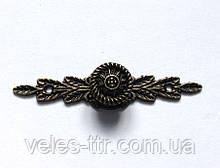 Ручка накладная бронза 64х15 мм