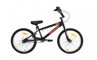 """Трюковый велосипед CROSSRIDE MAVERICK CR-MO BMX 20"""" Черно-оранжевый"""