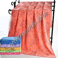 Банное полотенце микрофибра Розочки (6)