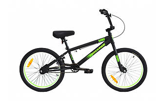 """Трюковый велосипед CROSSRIDE MAVERICK CR-MO BMX 20"""" Черно-зеленый"""