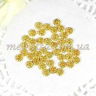 Разделители для бусин, 4 мм, золото, 50шт.