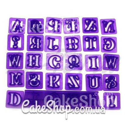 Набор штампов Английский алфавит с держателем