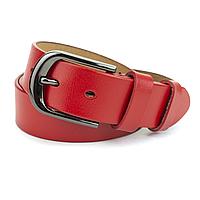 Ремень кожаный женский под джинсы красный PS-3538  red (115 см), фото 1