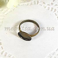 Заготовка-основа для  кольца, бронза антик,
